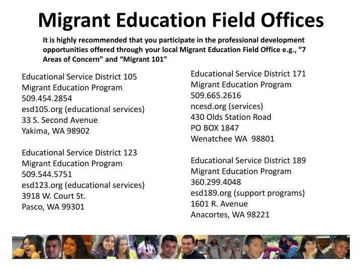 Migrant Education Field Offices