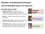 response to intervention approach how the mgs msa supports rti approach2