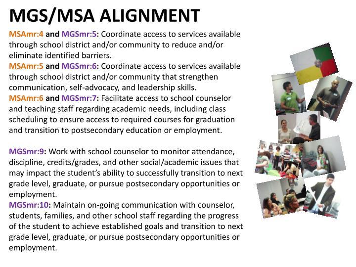 MGS/MSA ALIGNMENT