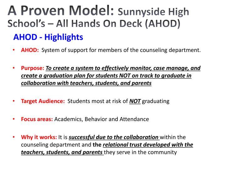 A Proven Model: