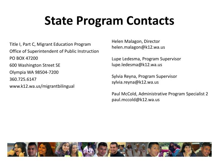 State Program Contacts