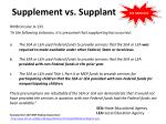 supplement vs supplant