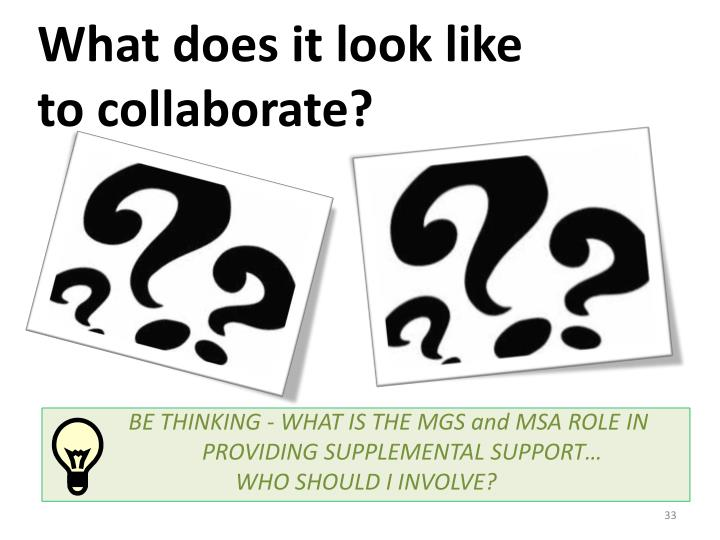What does it look like to collaborate?