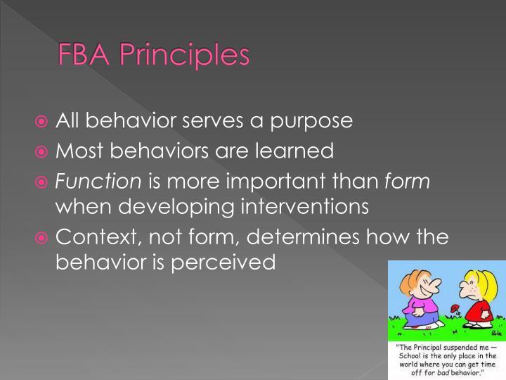 FBA Principles