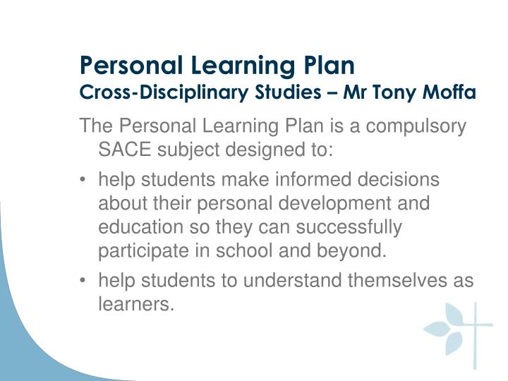 Personal Learning Plan