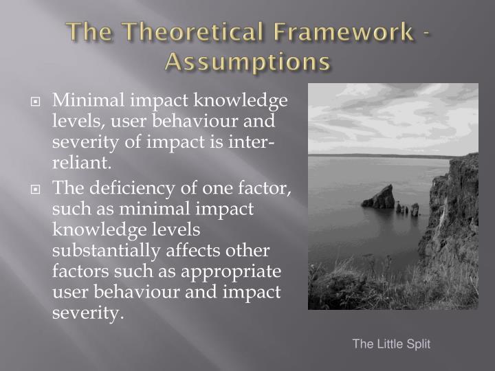 The Theoretical Framework - Assumptions