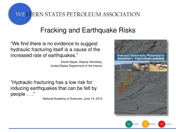 Fracking and Earthquake Risks