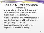 community health assessment standard 1 1