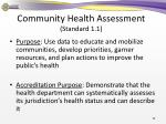 community health assessment standard 1 11