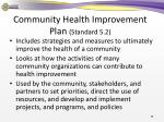 community health improvement plan standard 5 21