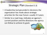 strategic plan standard 5 31