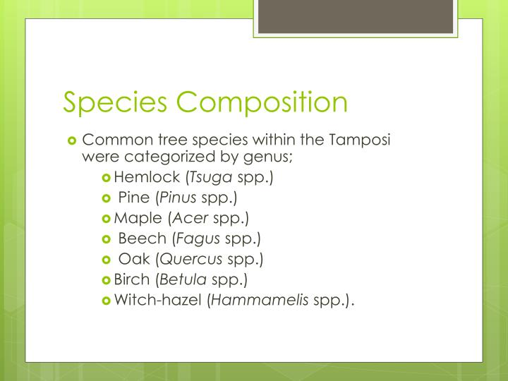 Species Composition