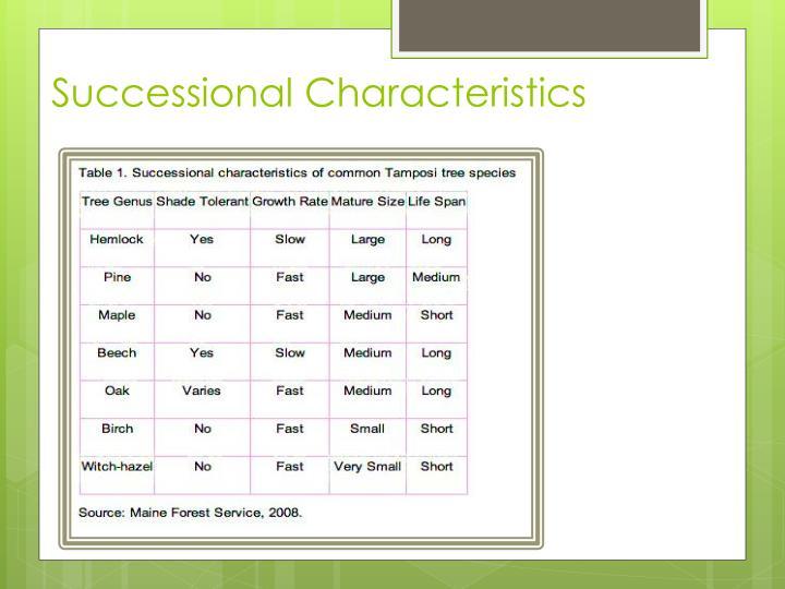 Successional Characteristics