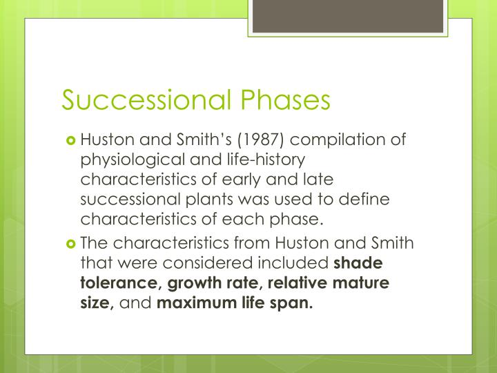 Successional Phases