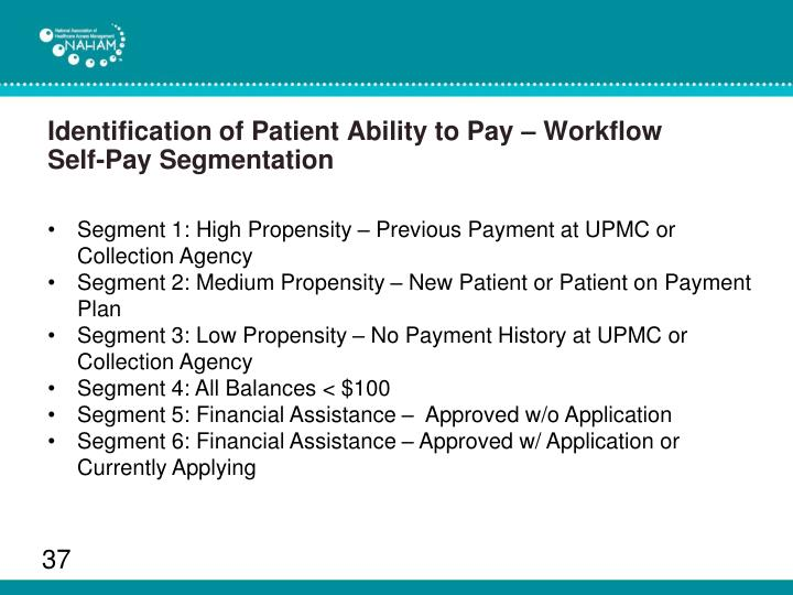 Identification of Patient Ability to Pay – Workflow