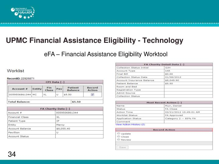 UPMC Financial Assistance Eligibility - Technology