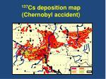 137 cs deposition map chernobyl accident