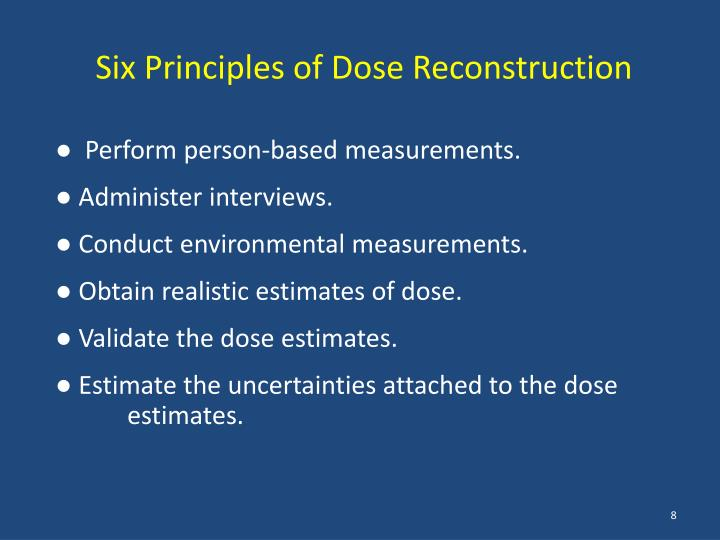 Six Principles of Dose Reconstruction