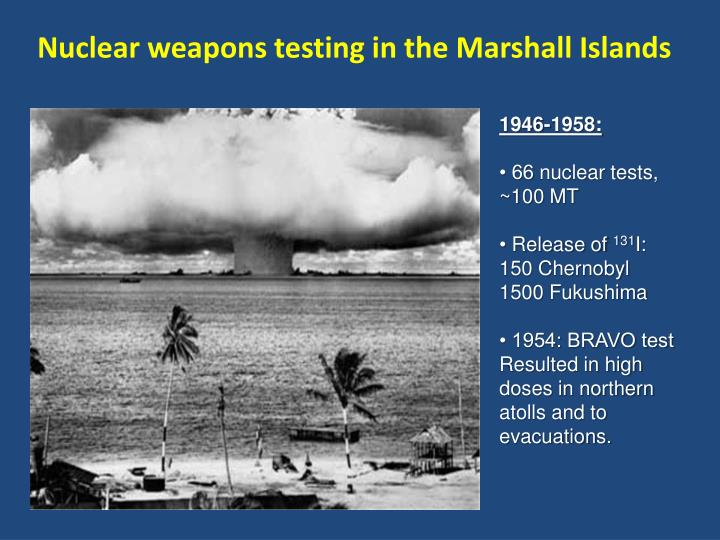 Nuclear weapons testing in the Marshall Islands