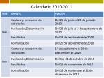 calendario 2010 2011