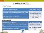calendario 20111