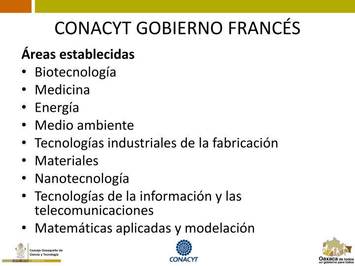 CONACYT GOBIERNO FRANCÉS