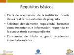 requisitos b sicos
