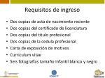 requisitos de ingreso8