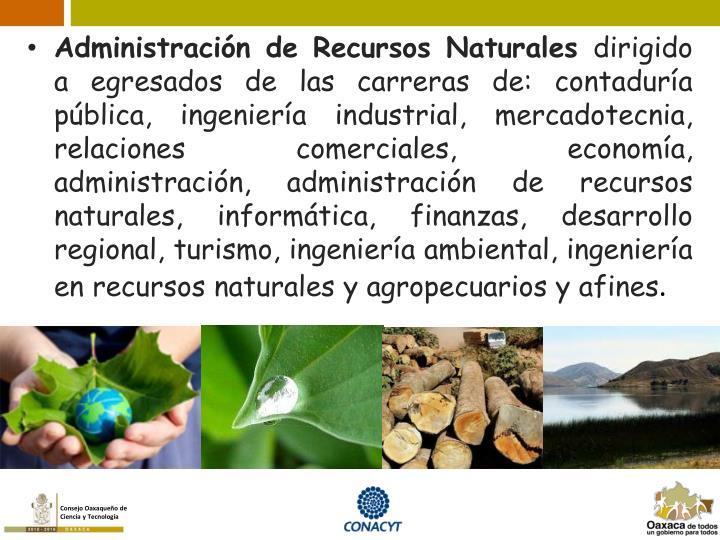 Administración de Recursos Naturales