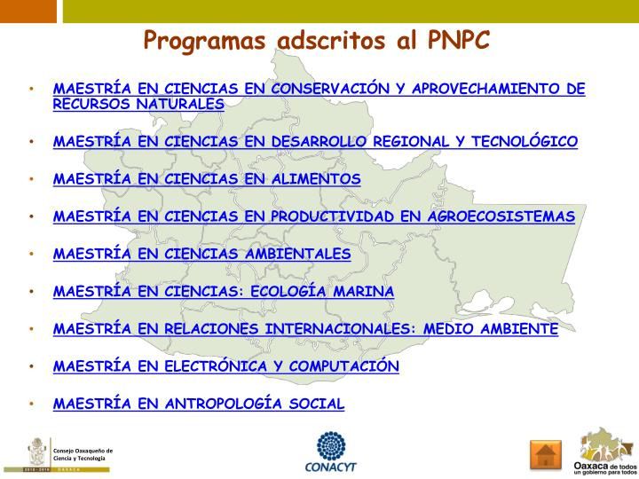 Programas adscritos al PNPC