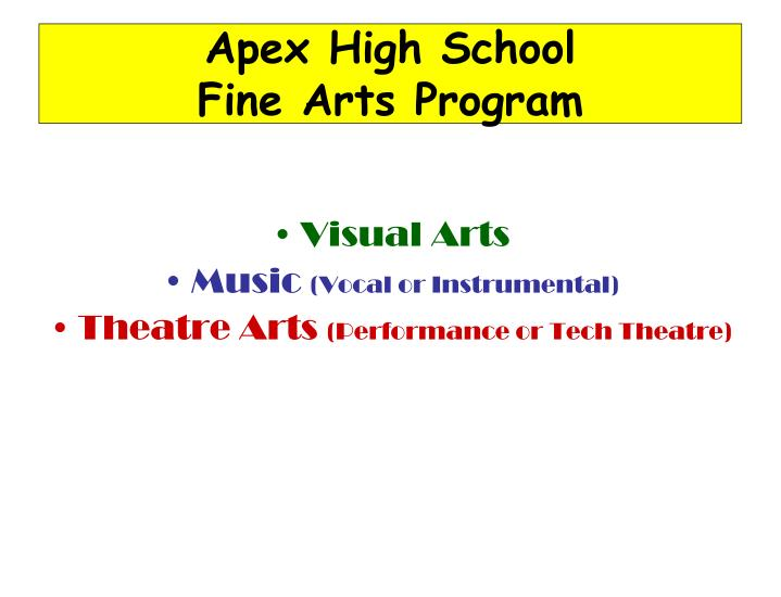 Apex High School                        Fine