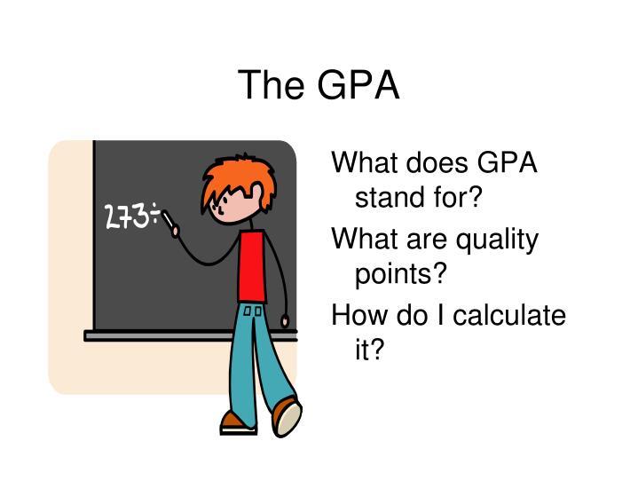 The GPA