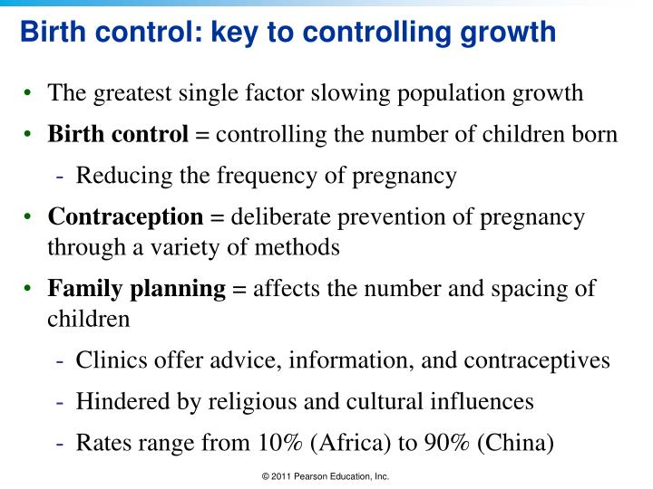 Birth control: key to controlling growth