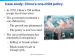 case study china s one child policy