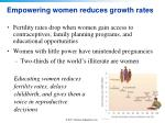 empowering women reduces growth rates