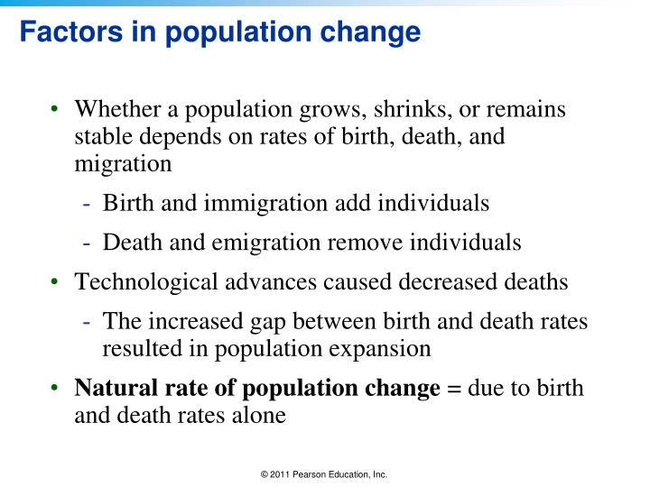 Factors in population change