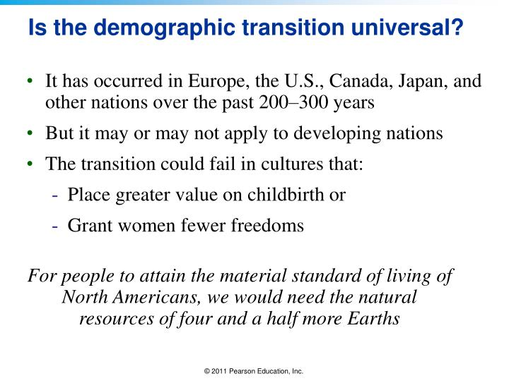 Is the demographic transition universal?