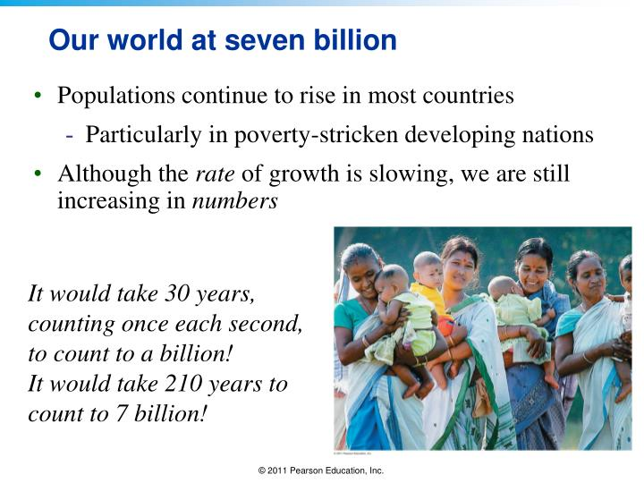 Our world at seven billion
