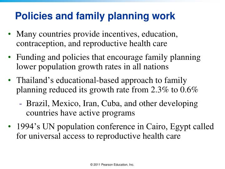 Policies and family planning work