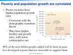 poverty and population growth are correlated