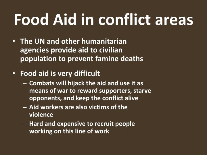 Food Aid in conflict areas
