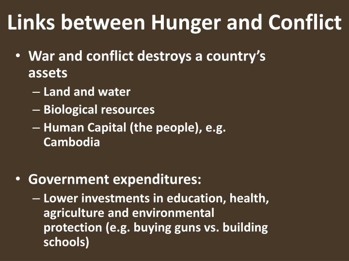 Links between Hunger and Conflict