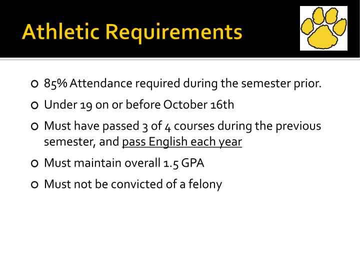 Athletic Requirements