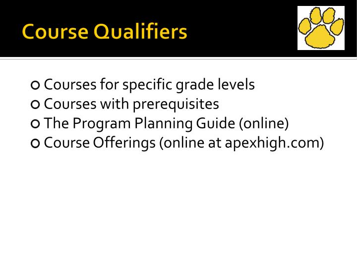 Course Qualifiers