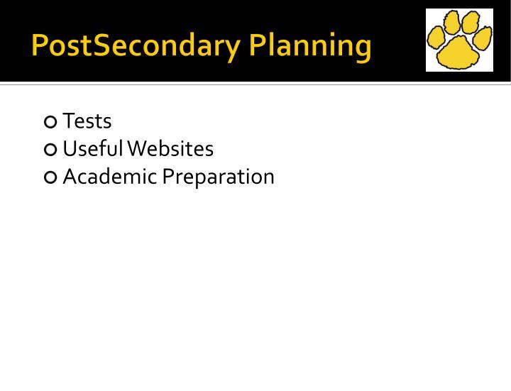 PostSecondary Planning