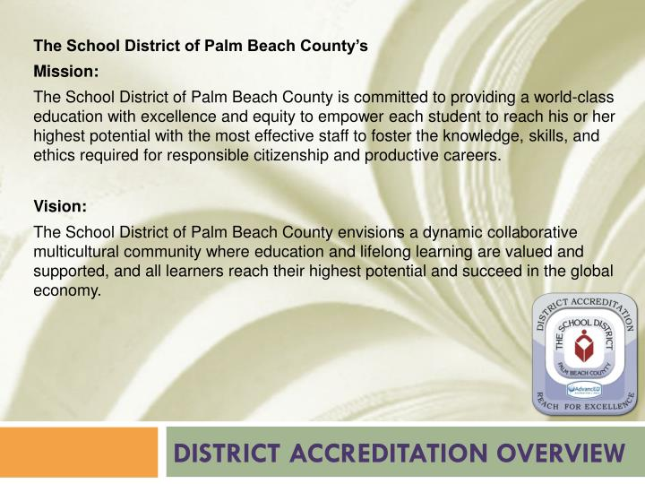 District accreditation overview1