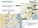 monitoring sites