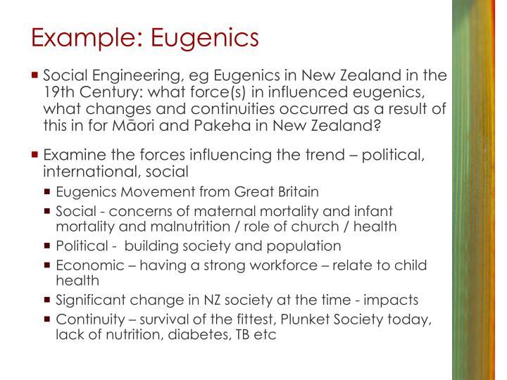 Example: Eugenics