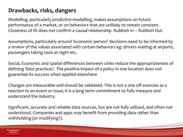 Drawbacks, risks, dangers