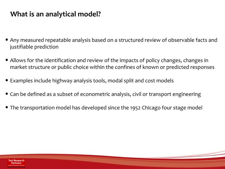 What is an analytical model?